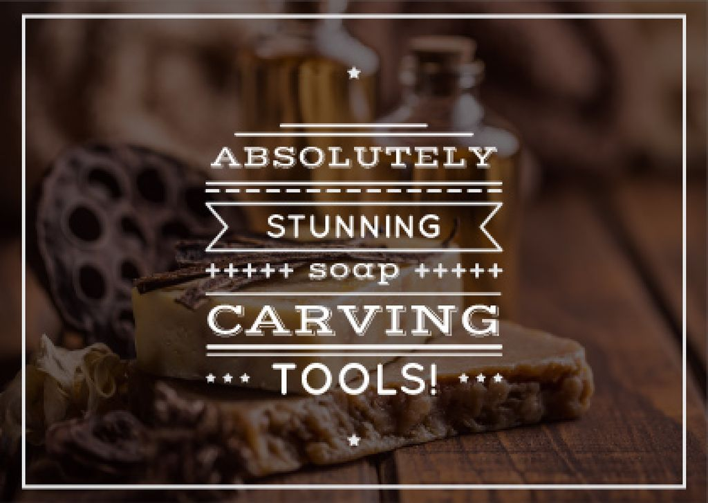 carving tools advertisement poster — Create a Design