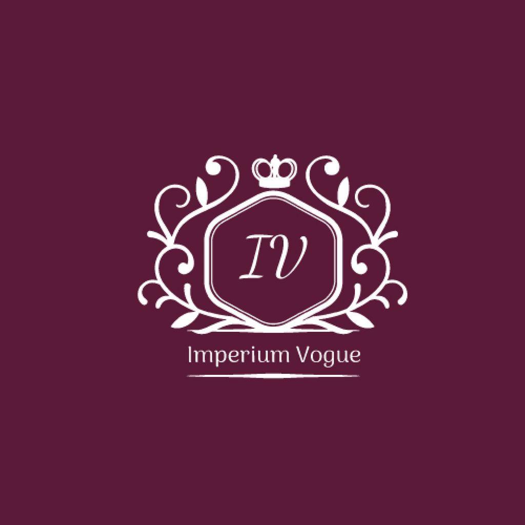 Vintage Decorative Logo in Purple — Crea un design