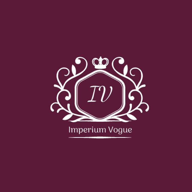 Vintage Decorative Logo in Purple Animated Logo – шаблон для дизайна