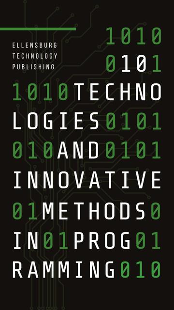 Binary digits on cyber background Instagram Story Modelo de Design