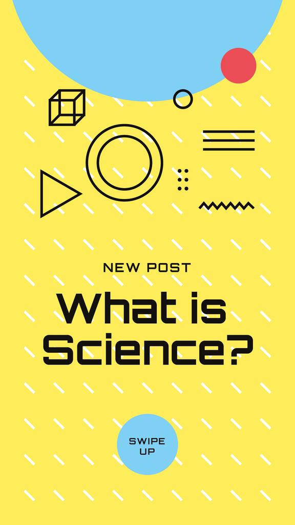 Scientific Event Announcement Geometric Pattern in Yellow — Crear un diseño