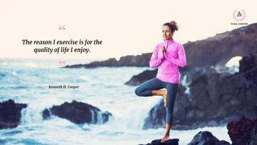 Yoga center poster