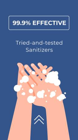 Plantilla de diseño de Cleansers ad with Hand Washing Instagram Story