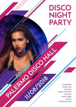 Disco night party in Palermo Disco Hall