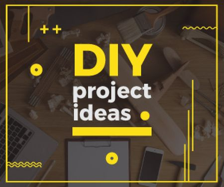 Diy project ideas banner  Medium Rectangle Modelo de Design