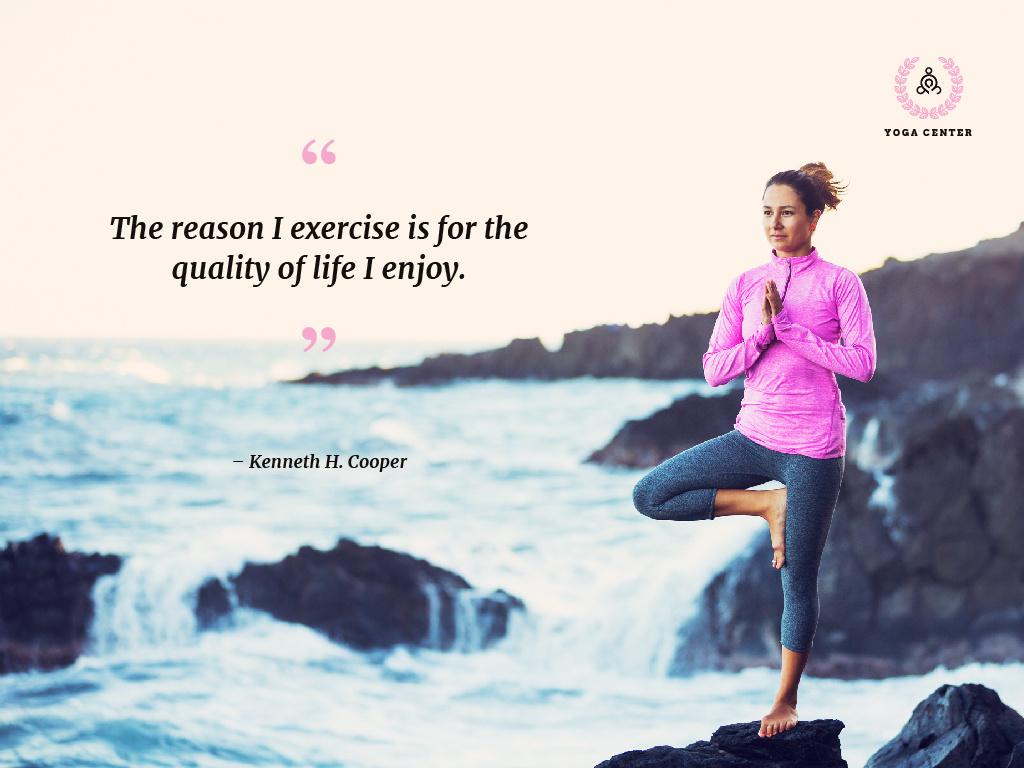 Yoga center poster — Создать дизайн