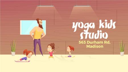Modèle de visuel Kids Doing Yoga With Coach - Full HD video