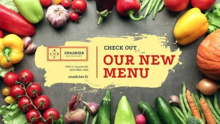 Template di design New Vegetarian menu Offer Full HD video