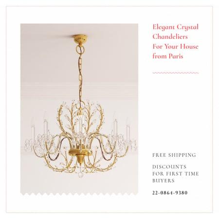 Elegant crystal Сhandeliers Instagram Modelo de Design