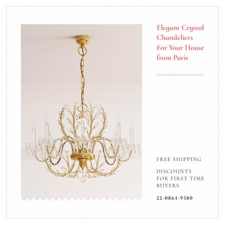 Elegant crystal Сhandeliers Instagram Design Template