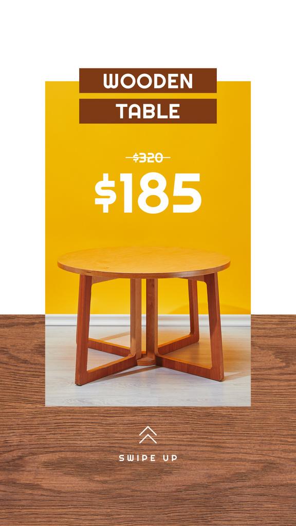 Special Wooden Table Offer — ein Design erstellen