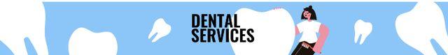 Dental services clinic promotion Leaderboard Modelo de Design