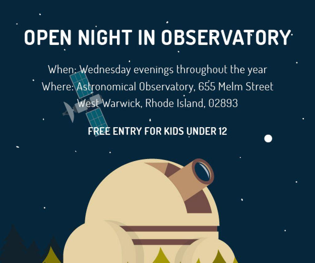 Open night in Observatory — Створити дизайн