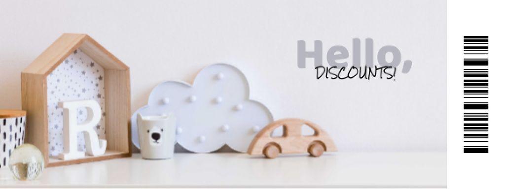 Plantilla de diseño de Kids' Toys and Furniture Offer Coupon