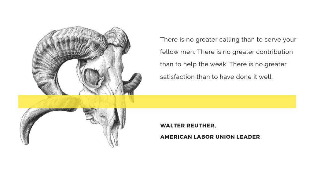Volunteer Work Quote with animal Skull — Crear un diseño