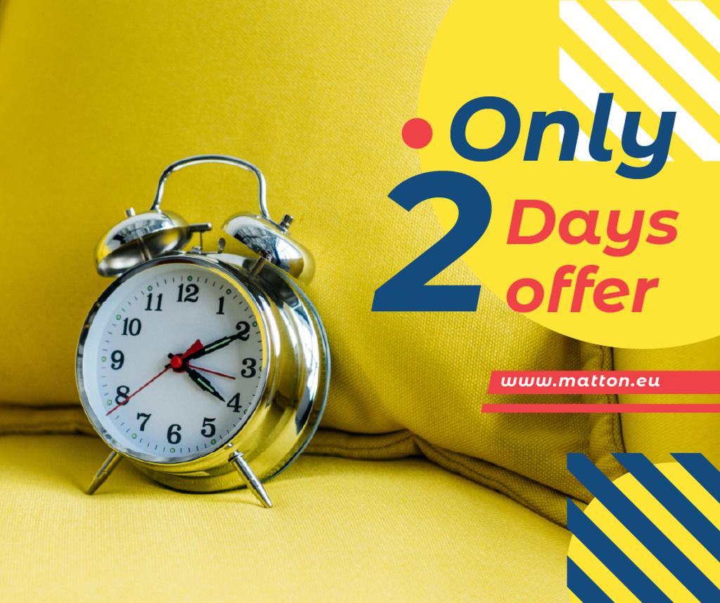 Sale announcement Alarm Clock in Yellow — Crea un design