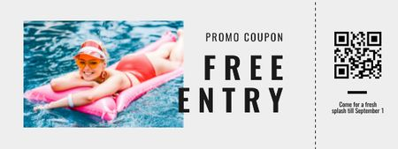 Plantilla de diseño de Swimming Pool free entry Coupon