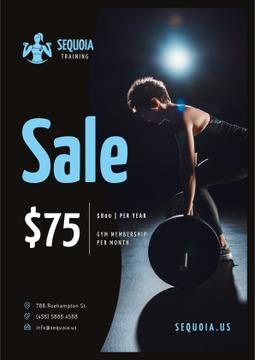 Gym Special Offer with Woman doing Workout