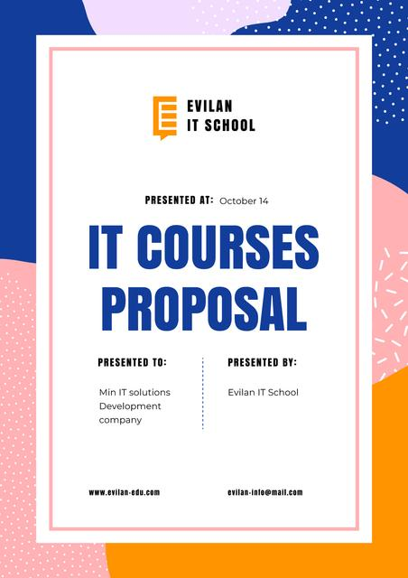 IT Courses program offer Proposalデザインテンプレート