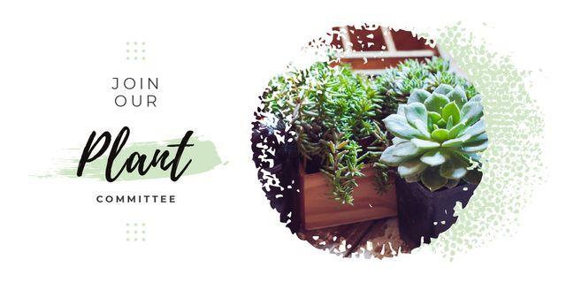 Plantilla de diseño de Decorative flowers in pots Image