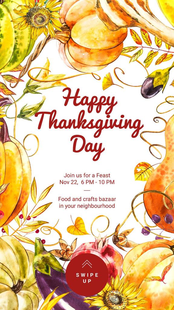 Thanksgiving feast in Pumpkins Frame — Modelo de projeto