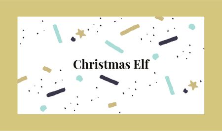 Plantilla de diseño de Bright and Shiny Confetti on Christmas Business card