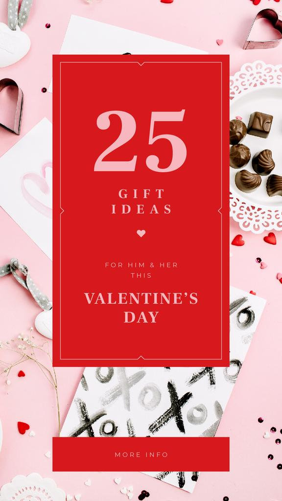 Valentine's Day Festive Heart-shaped Candies and Cards — Создать дизайн