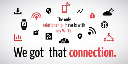 Wi-fi connection icons Twitter Modelo de Design
