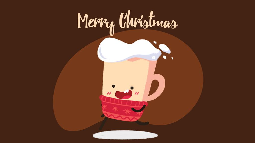 Running Christmas cup — Design Template