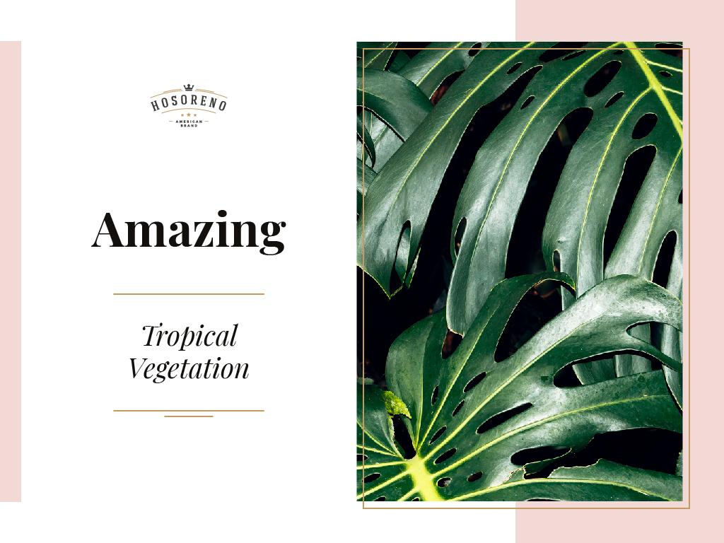 Amazing tropical vegetation – Stwórz projekt