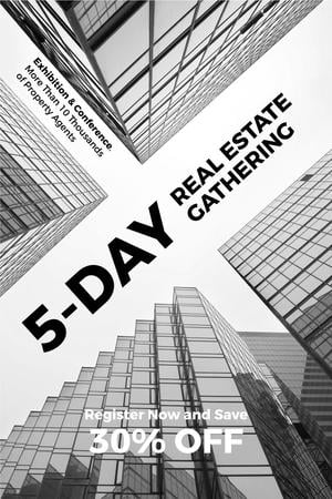 Modèle de visuel Real estate exhibition and conference - Pinterest