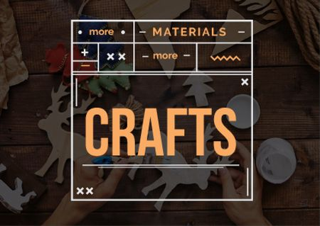 Plantilla de diseño de Handmade workshop with crafter Card