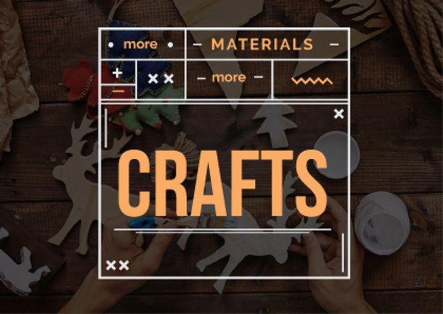 Designvorlage Handmade workshop with crafter für Card