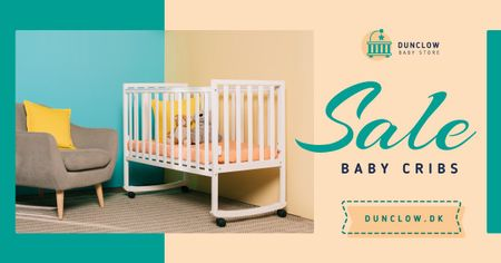 Template di design Baby Store Ad Crib in Nursery Facebook AD