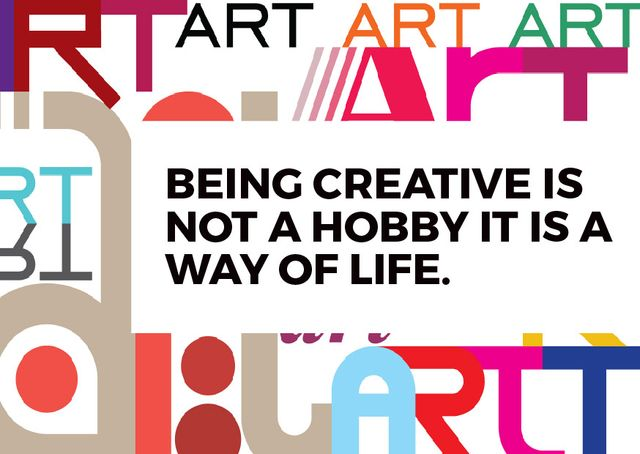 Citation about how to be a creative Cardデザインテンプレート