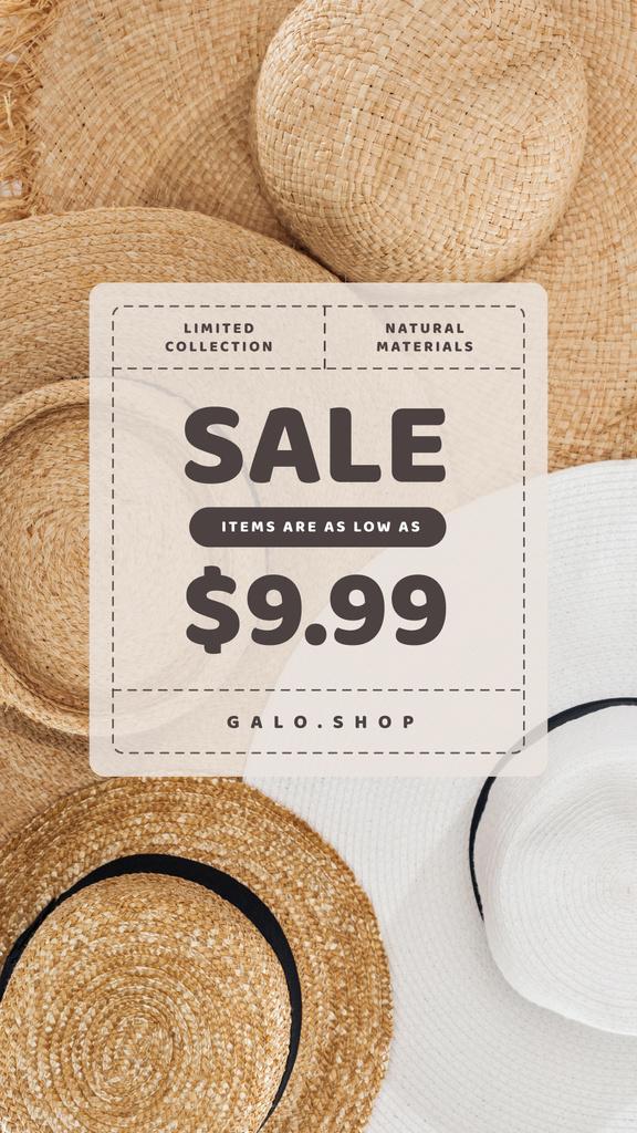 Accessories Store Sale Summer Straw Hats — Modelo de projeto