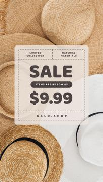 Accessories Store Sale Summer Straw Hats