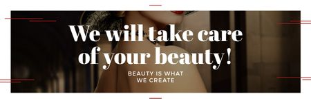 Plantilla de diseño de Citation about care of beauty  Email header
