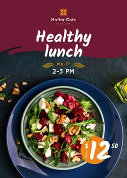 Healthy Menu Offer Salad in a Plate | Flyer Template
