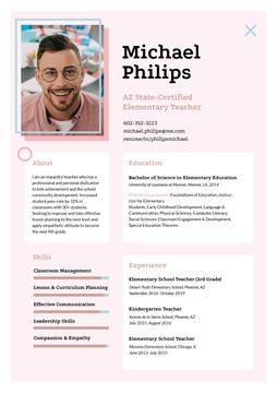 Elementary Teacher professional profile
