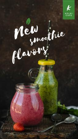Plantilla de diseño de Healthy nutrition offer with Smoothie bottles Instagram Video Story
