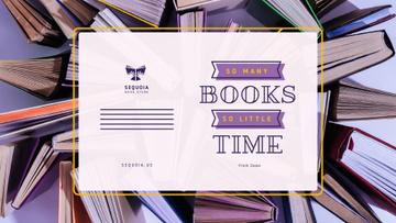 Book Store Promotion Books in Purple