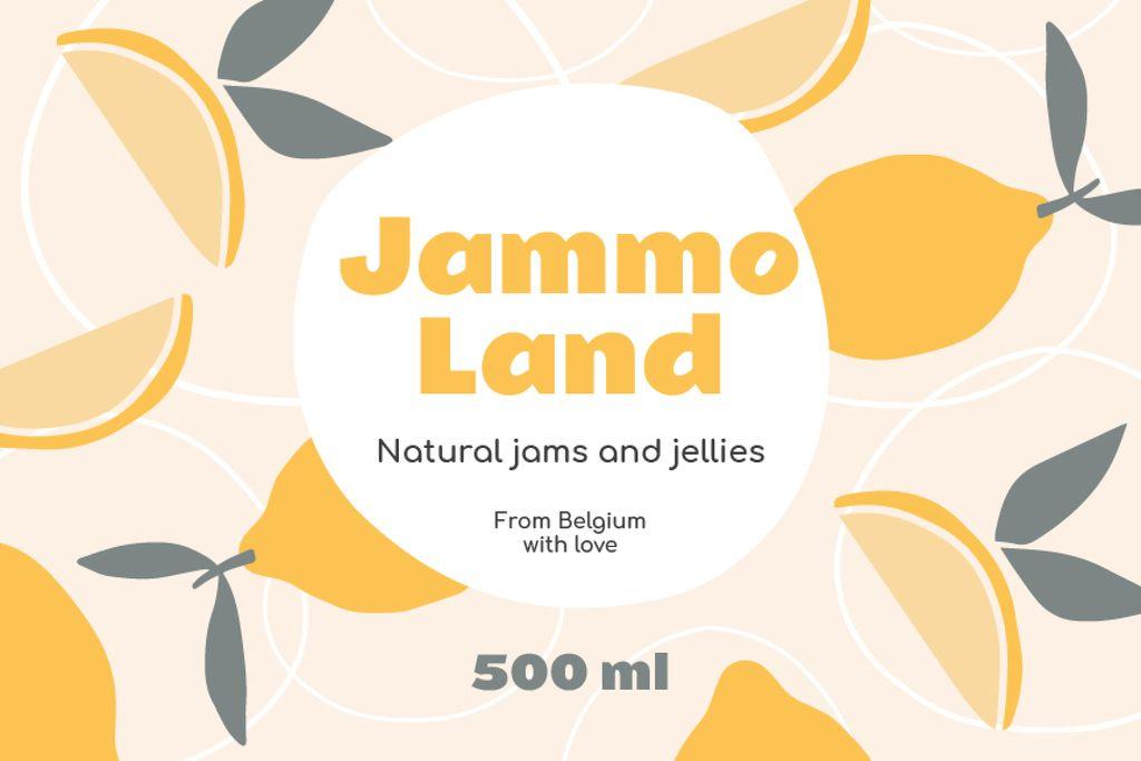 Natural Jams ad on Citruses pattern — Создать дизайн