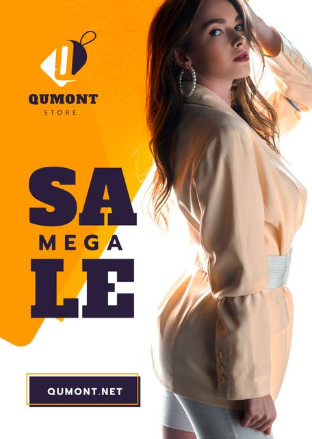 Modèle de visuel Fashion Store Ad Woman in Stylish Outfit - Flayer