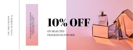 Modèle de visuel Fragrance offer with Perfume bottle - Coupon