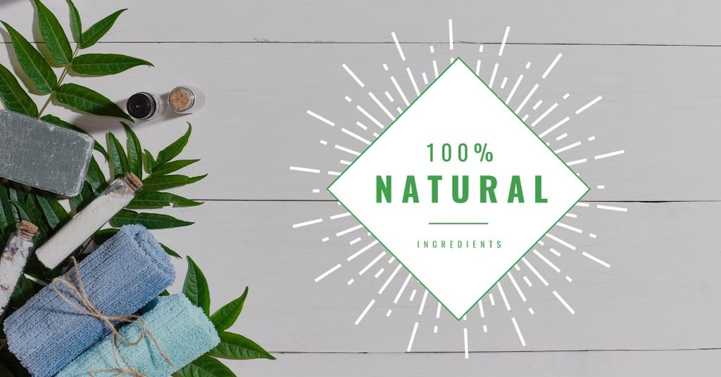 100 % natural ingredients banner — Modelo de projeto
