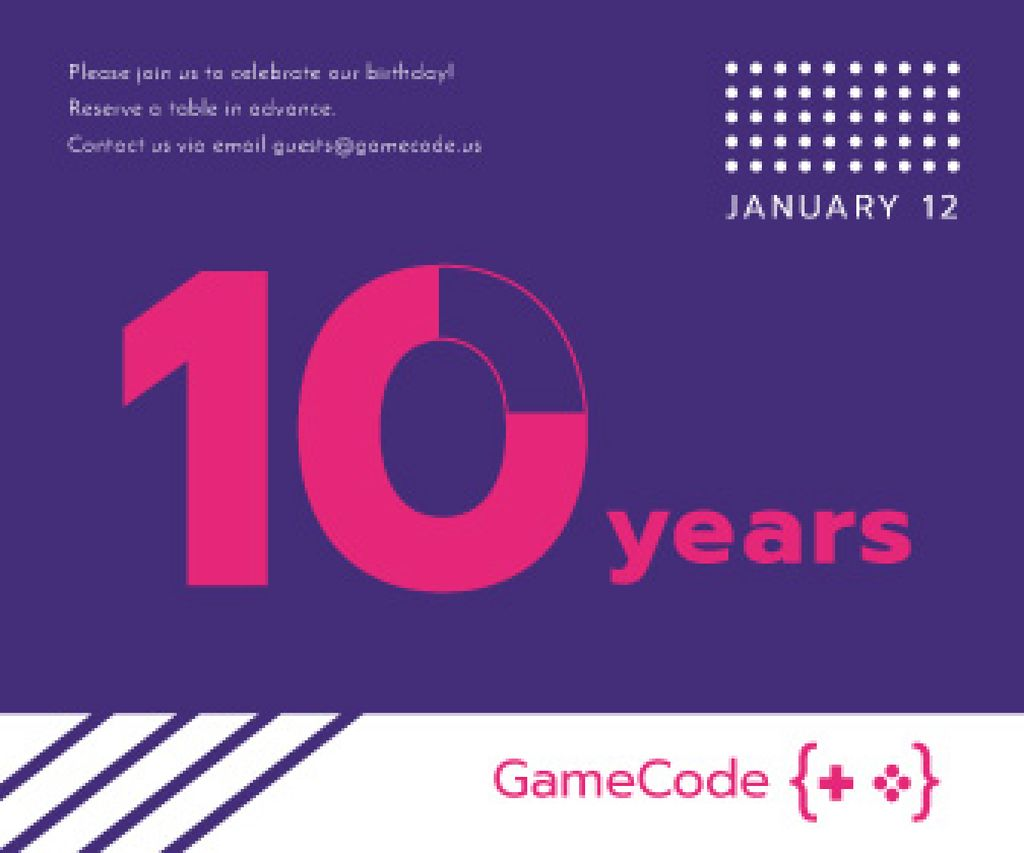 10 years anniversary event announcement — Crea un design