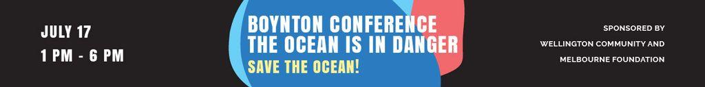Boynton conference the ocean is in danger — Maak een ontwerp