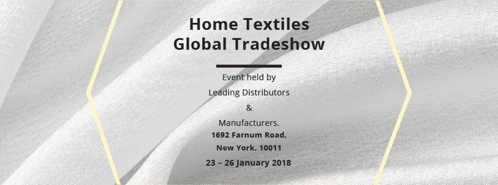 Home Textiles Events Announcement with White Silk — Crea un design