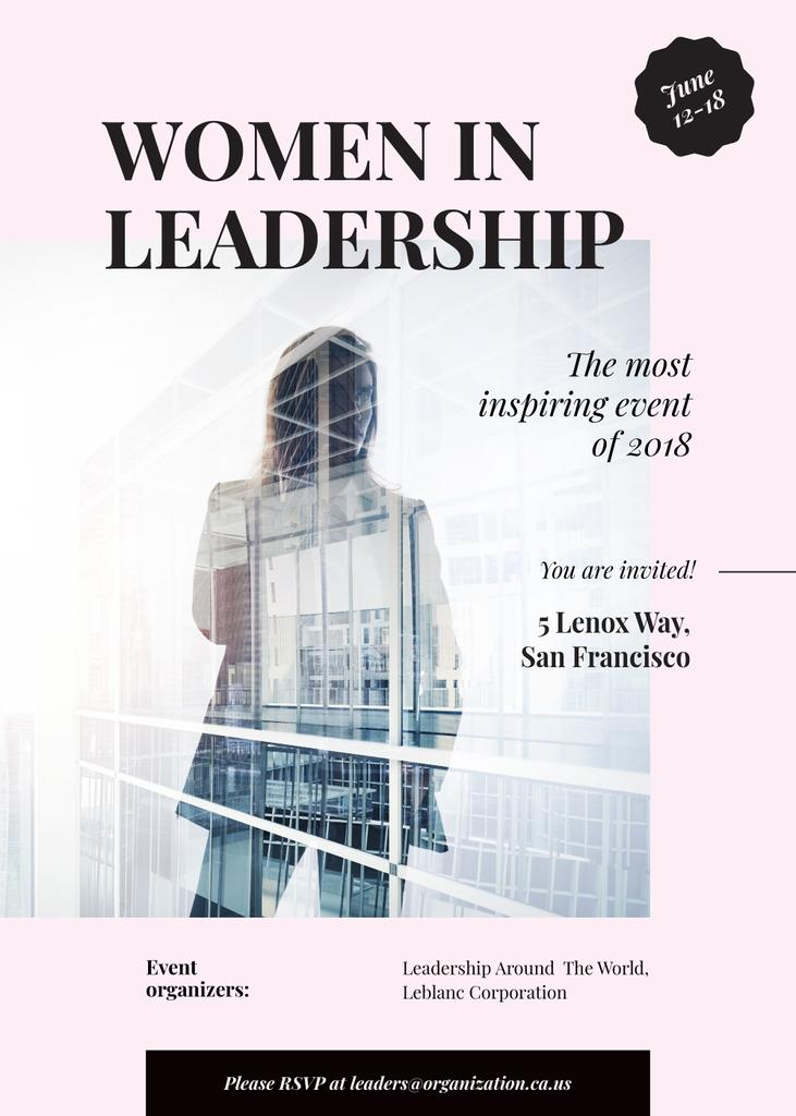 Double exposure of businesswoman and building — Створити дизайн